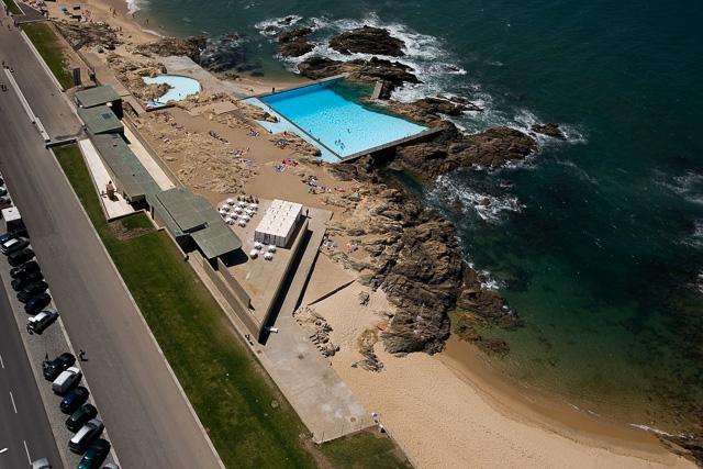 piscina das marés siza vista aerea
