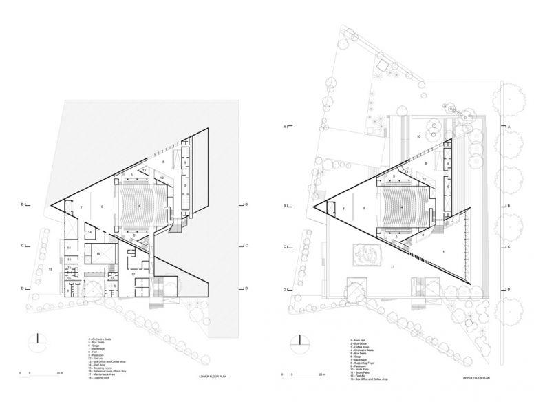 Planos arquitectónicos. Planta baja y Planta alta