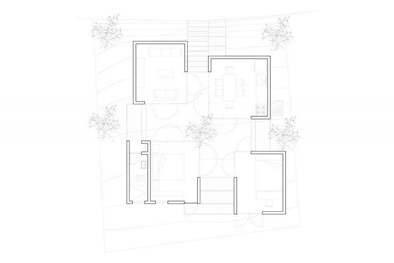 Planta arquitectónica de Casa Rosario