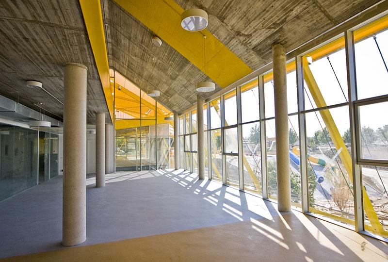 Vista desde el interior del edificio