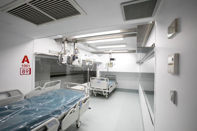 arquitectura proyecto CURA fotografia interior modulo en hospital de emergencia