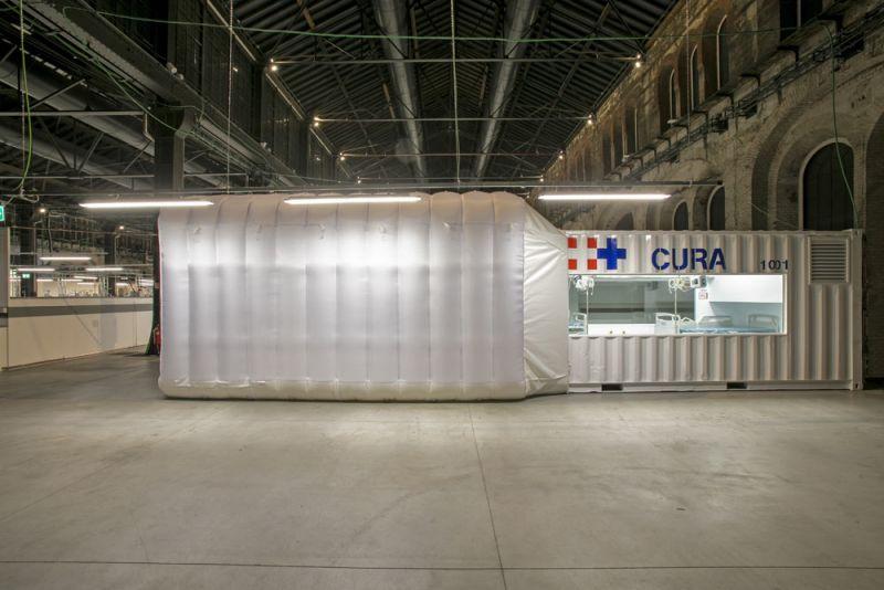 arquitectura proyecto CURA fotografia modulo en hospital de emergencia