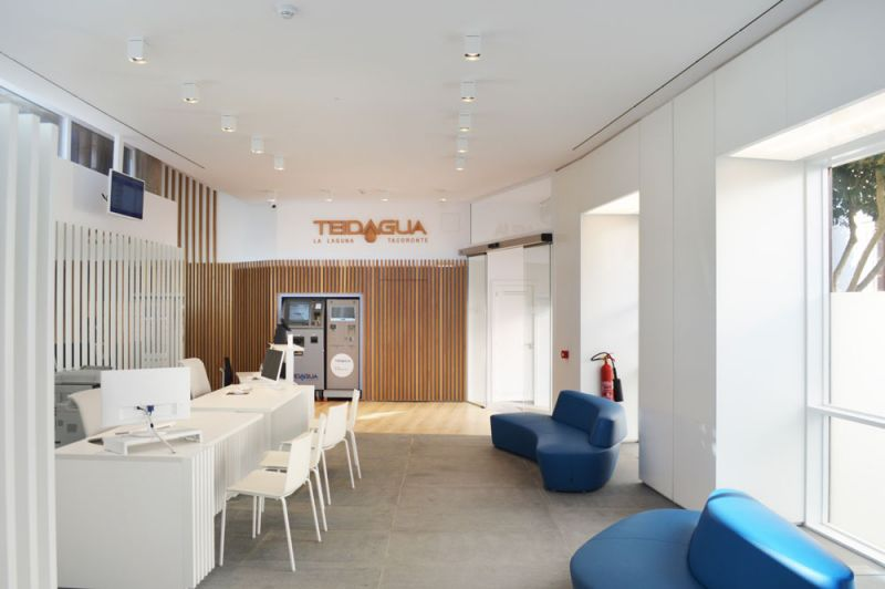 arquitectura puerta 35 arquitectura proyecto teidagua fotografia oficinas pasillo