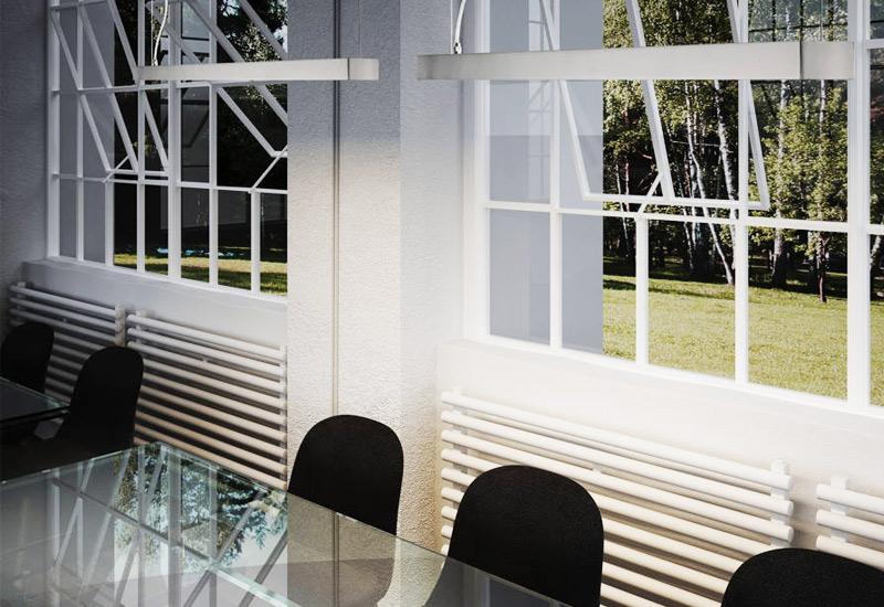 Arquitectura y Empresa, Pujol Iluminación, lámparas, luminarias, iluminación, colección PRIM, línea minimalista, diseño, aluminio de extrusión, cromado, níquel mate, blanco, iluminación de interior, proyectos contract