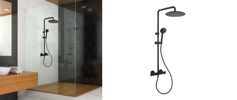 Arquitectura y Empresa, Ramon Soler, grifería, baño, diseño, diseño de producto, interiorismo, diseño interior, negro mate, tendencias en diseño, decoración, elegancia, lujo, ergonomía, ahorro de agua, sostenibilidad, diseño sostenible, ahorro de energía, eficiencia energética