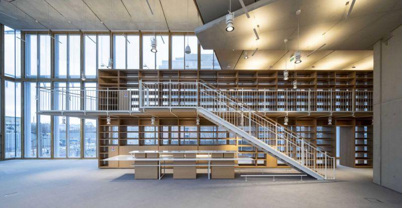 arquitectura maison de l´ordre des avocats accoya foto interior madera altillo