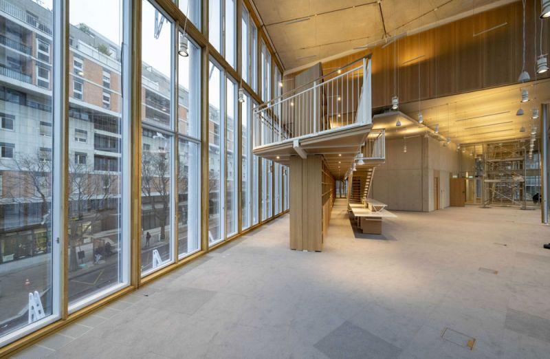 arquitectura maison de l´ordre des avocats accoya foto interior doble altura