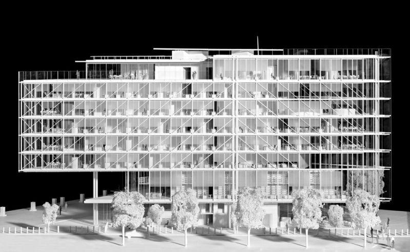 arquitectura maison de l´ordre des avocats accoya foto maqueta