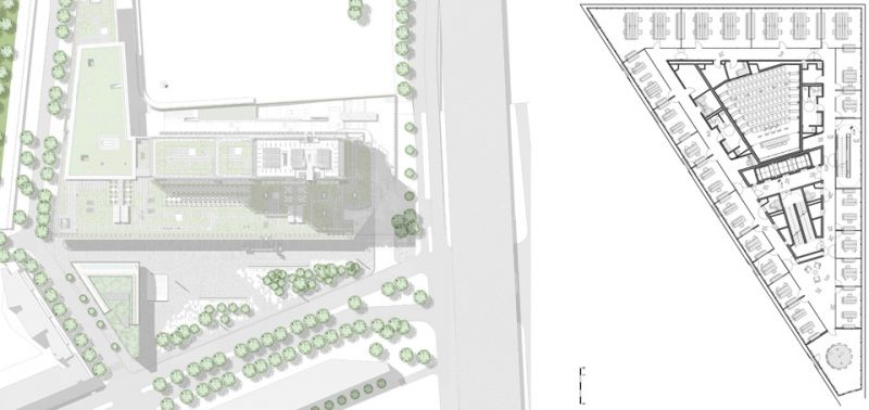 arquitectura maison de l´ordre des avocats accoya plano ubicacion planta