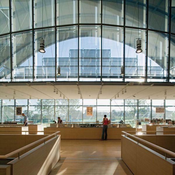 arquitectura renzo piano zentrum paul klee foto libreria