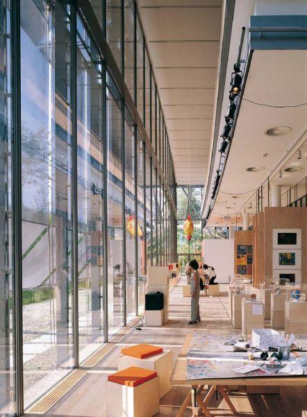 arquitectura renzo piano zentrum paul klee foto interior