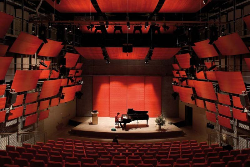 arquitectura renzo piano zentrum paul klee foto sala musica
