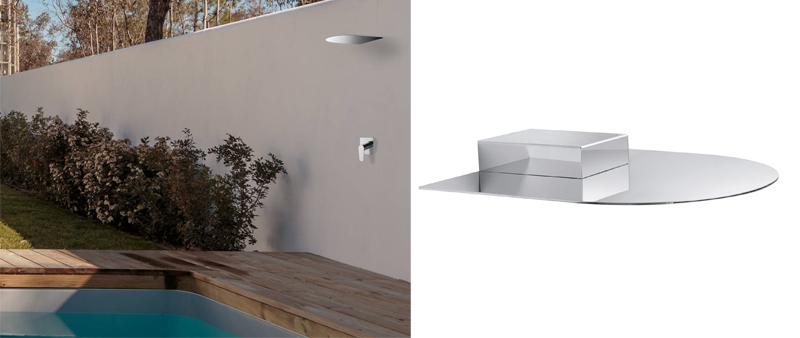 Arquitectura y Empresa, Ramon Soler, ducha exterior, ducha piscina, RCEXT, ducha cascada, diseño vanguardista, grifería, baño, higiene, design, diseño