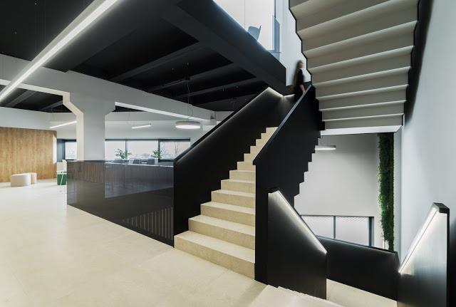 arquitectura y empresa_Ruben Muedra_Oficinas Idai_escalera