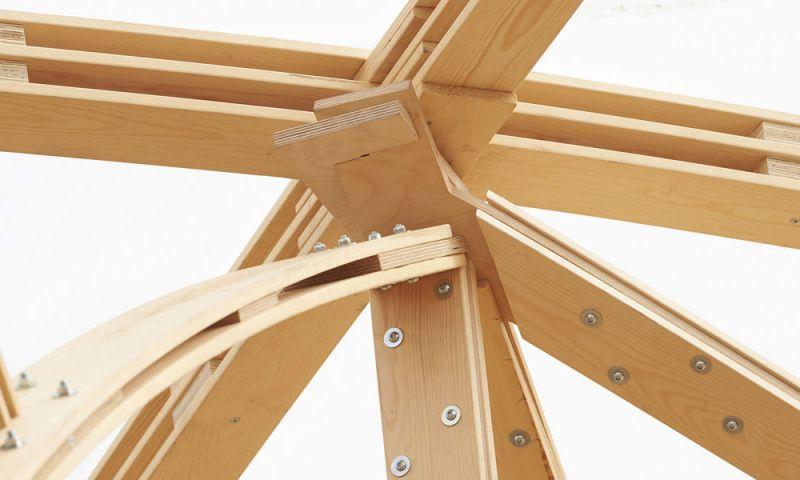 Nudo estructural del Saïe Pavilion