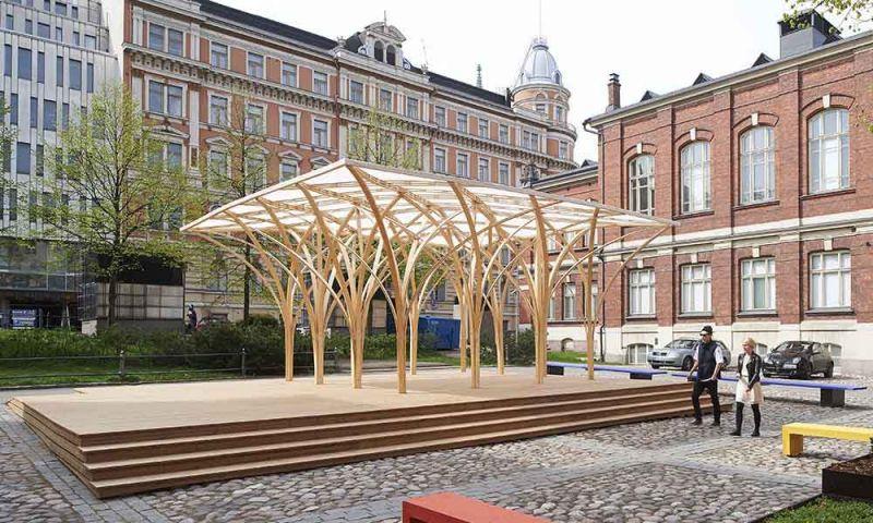 Imagen exterior del Saïe Pavilion