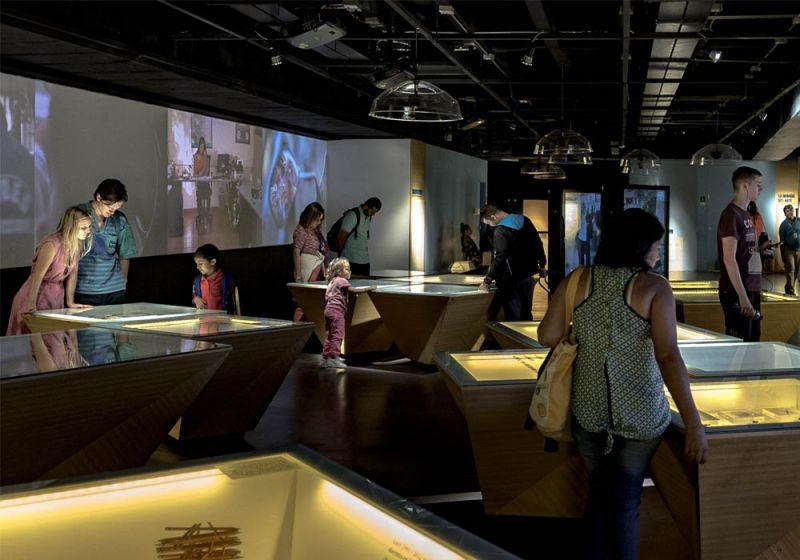 Sala de exposición permanente del Museo Casa de la Memoria