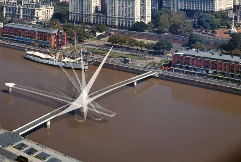 arquitectura movimientos de giros puente de la mujer
