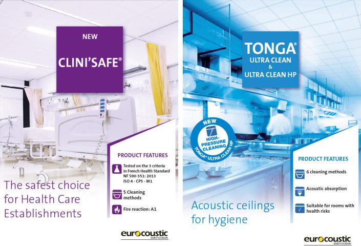 arquitectura soluciones covid 19 ultra-clean clini´safe eurocoustic