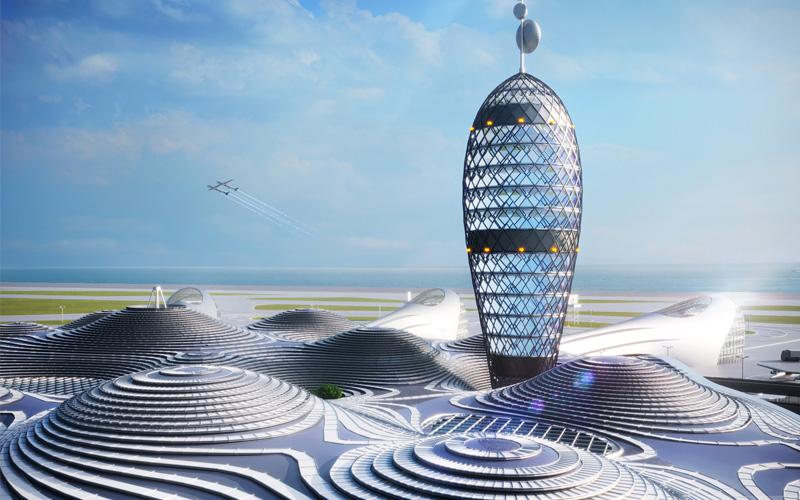 Arquitectura y Empresa, Japón, Japan, Spaceport City, Space Port Japan Association, SPJ, Dentsu, Canaria, Noiz Architects, centro de transporte, transbordador espacial, espacio, instalaciones de transporte