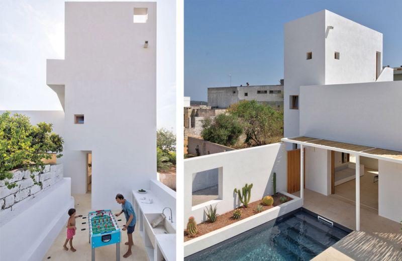 vistas de diferentes patios de la vivienda