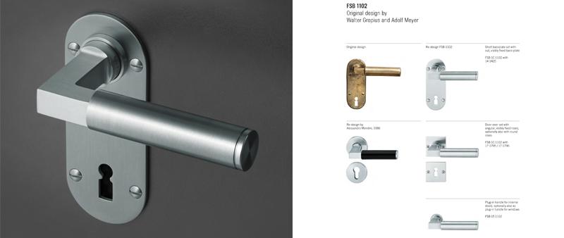 Arquitectura y Empresa, FSB, herrajes, manilla, puerta, decoración, diseño interior, trilogía Bauhaus, colección, 2019