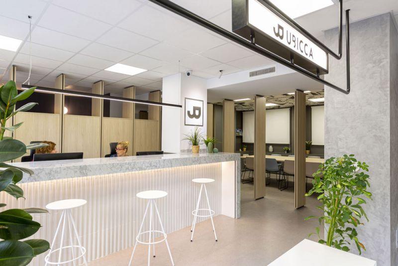 arquitectura nuevas oficinas ubicca en madrid acceso entrada