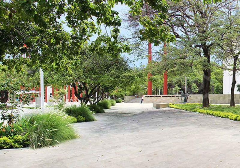 Estructura verde de la plaza de la Gobernación del César
