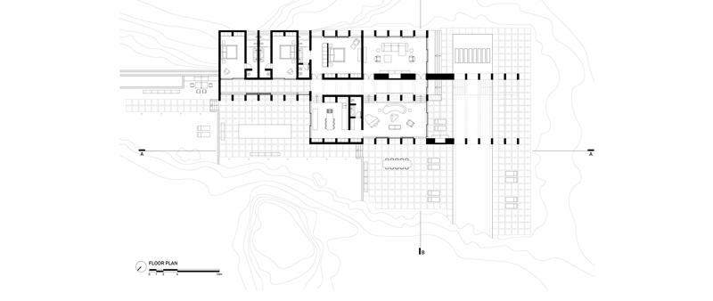 Arquitectura y Empresa, Villa Chams, Carl Gerges Architects, Beirut, Líbano, vivienda, arquitectura residencial, casa, arquitectura romana, Baalbek, roca, hormigón, naturaleza, templo romano