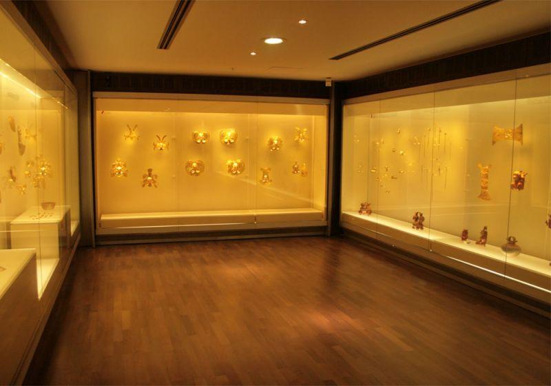 Sala de exposición del Museo del Oro