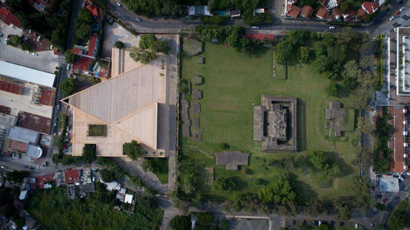 Vista superior Centro Cultural Teopanzolco