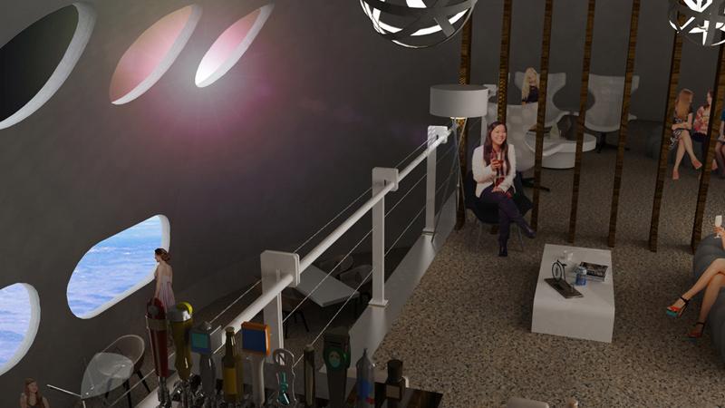 Arquitectura y Empresa, espacio, estación espacial, arquitectura hotelera, hotel espacial, Tim Alatorre, Fundación Gateway, Orbital Assembly Corporation, hotel de lujo, arquitectura de lujo, interiorismo, baja gravedad