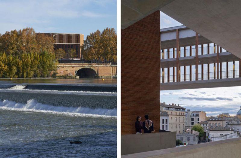 arquitectura Université Toulouse 1 Capitole, School of Economics, photo courtesy of Dennis Gilbert1