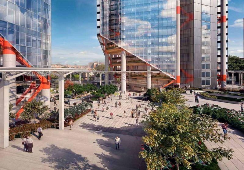 Render espacios públicos del proyecto ATRIO.