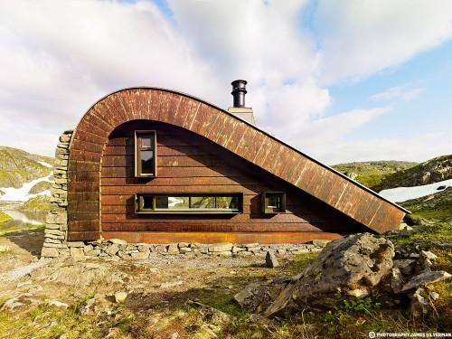 arquitectura y paisaje_refugio Snoetta_alzado