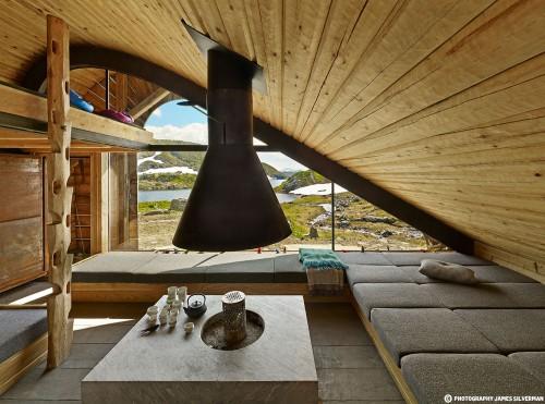arquitectura y paisaje_refugio Snoetta_interior