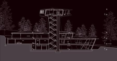 arquitectura_Zaha Hadid_Capital Hill Residence_sec3