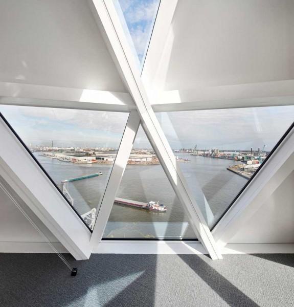 Sede Portuaria de Amberes Zaha Hadid Architects Fotografía interior de Hufton Crow