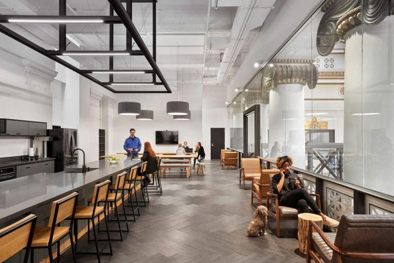 arquitectura ZFG Architects Oficinas Expensify fotografia interior de Garrett Rowland cocina office