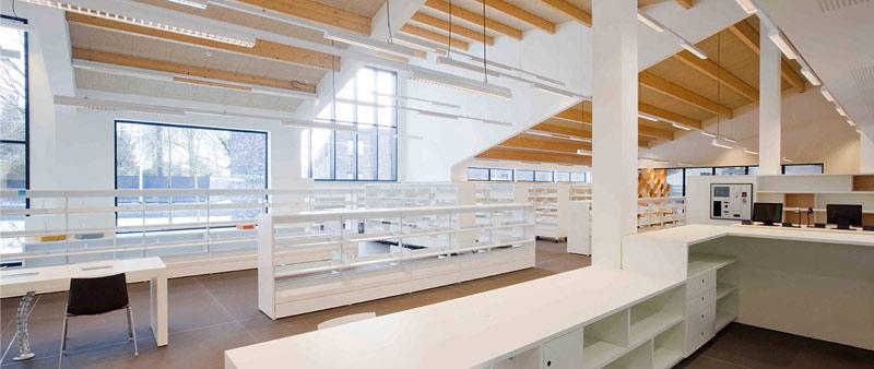 arquitectura, diseño, interiorismo, biblioteca, zoersel, Omgeving Architecture