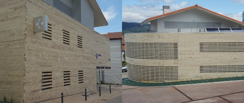 arquitectura, arquitecto, diseño, design, Accoya, madera, revestimiento, Centro médico Santa Cruz de Campezo, Álava, Adolfo Moro Quintana, eficiencia energética