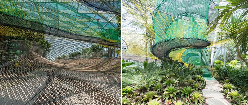 arquitectura, arquitecto, diseño, design, Safdie Architects, aeropuerto, cubierta vidrio, cascada, invernadero, jardines interiores, sostenible, sostenibilidad, Jewel Changi Airport, Singapur