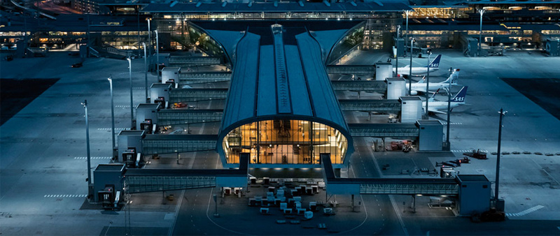 arquitectura y empresa, aeropuerto, Oslo, Ivan Brodey, Sune Eriksen, Knut Ramstad, Nordic—Office of Architecture, NSW Architect, proyecto de ampliación, diseño, diseñador, sostenible, sostenibilidad