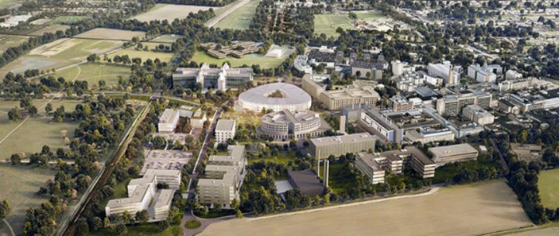 arquitectura, arquitecto, diseño, design, Herzog & de Meuron, Cambridge, Reino Unido, UK, laboratorio, medicina, investigación, sede, compañía, AstraZeneca