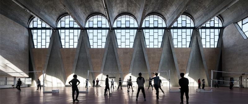 arquitectura arquitecto, diseño, design, arquitectura y empresa, Atelier Li Xinggang, campus universitario, China, Tianjin
