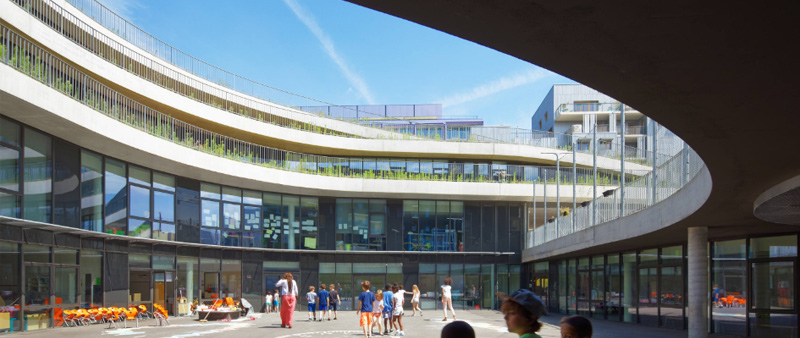 arquitectura, arquitecto, diseño, design, diseñador, Chartier Dalix, Francia, Biodiversity, escuela, colegio, centro educativo, Boulogne-Billancourt