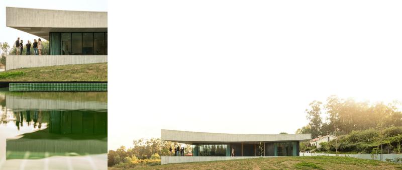 arquitectura, arquitecto, diseño, design, Spaceworkers, Portugal, Cabo de Vila, casa, vivienda, unifamiliar, Bitarães, video, BUILDING PICTURES, patio interior, hormigón, naturaleza, materiales, vidrio