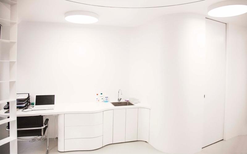 François Arnawout Architecture, arquitectura, arquitecto, diseño, design, diseñador, Barcelona, París, Clínica de podología, centro médico, Travessera de Gracía