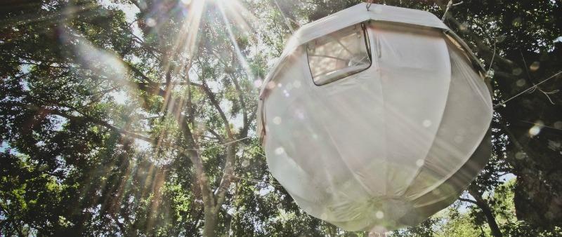 arquitectura, arquitecto, diseño, design, Cocoon Tree, casa árbol, colgante, esfera, tienda, camping, naturaleza