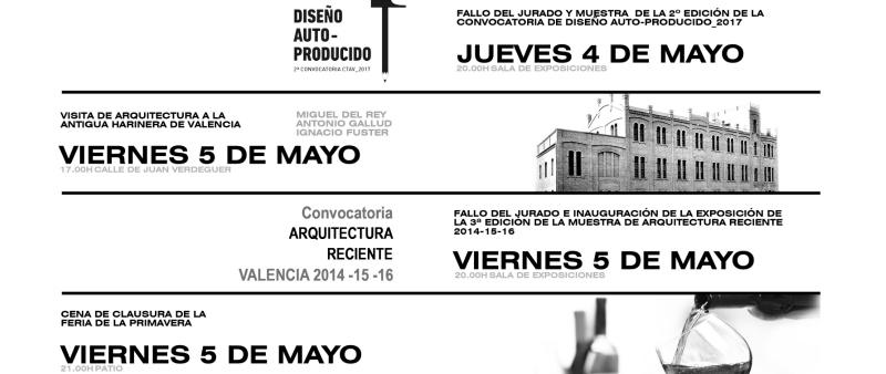 arquitectura, arquitecto, diseño, design, FERIA DE LA PRIMAVERA, 2017, CTAV, Valencia, conferencia, exposición, Colegio Territorial de Arquitectos de Valencia